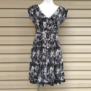 Trulli Grayscale Granite Print Stretchy Dress M